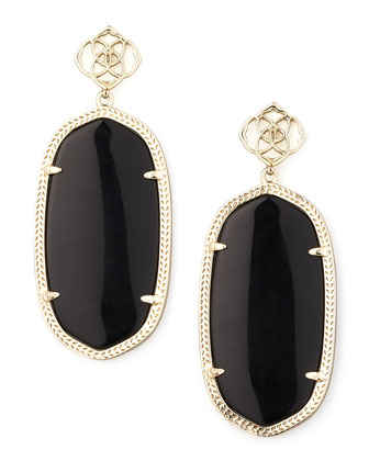 Danielle Earrings, Black