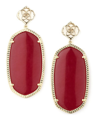 Danielle Earrings, Pink