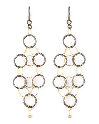 NOIR YELLOW GOLD MESH EARRINGS
