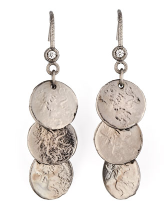 Noir Coin Drop Earrings