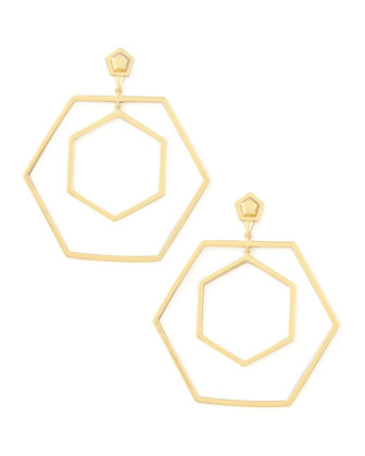 Hexagonal Hoop Earrings