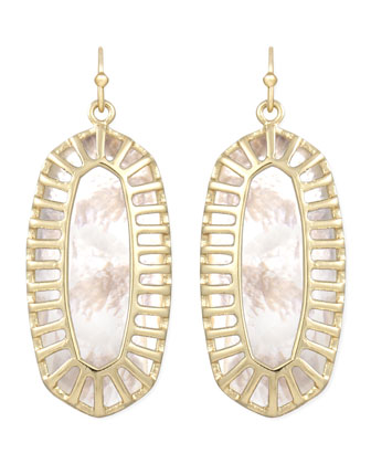 Dayla Small Drop Earrings, Pearl