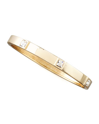 Skinny Crystal-Station Bangle