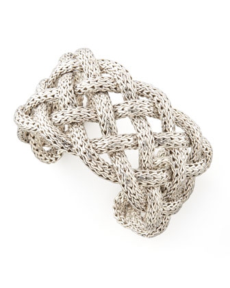 Naga Wide Braided Cuff Bracelet