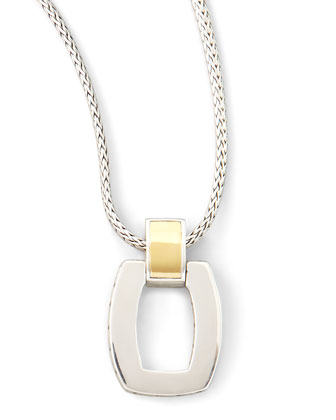 Classic Chain Door-Knocker Pendant Necklace