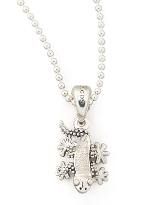 Rare Wonders Diamond Gecko Pendant Necklace