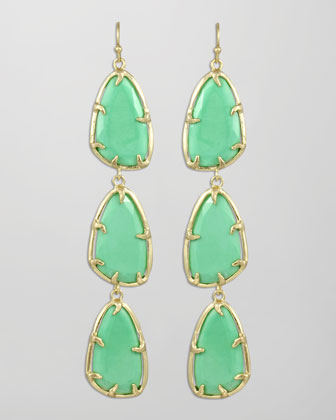 Lillian Drop Earrings, Seafoam