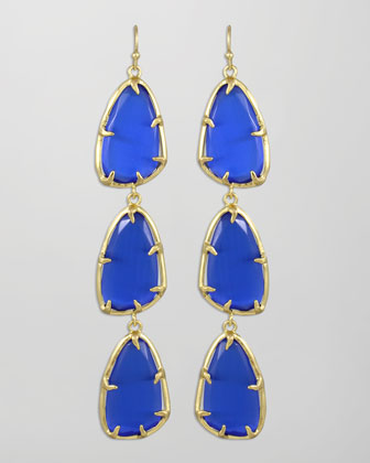 Lillian Drop Earrings, Cobalt