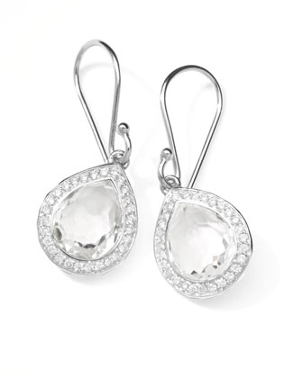 Rock Candy Diamond Quartz Teardrop Earrings, 4/5
