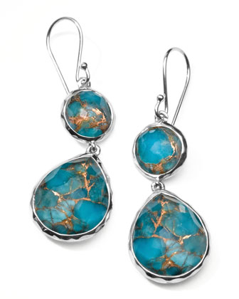 Wonderland Snowman Turquoise Drop Earrings, 4/5