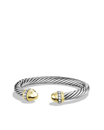 Cable Classics Collection Bracelet, Gold Dome, 7mm
