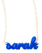 Personalized Acrylic Name Pendant Necklace
