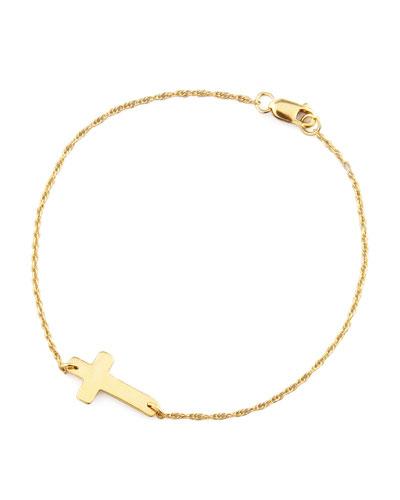 Gold-Plate Integrated Cross Bracelet