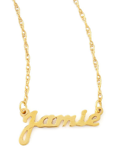 Personalized Gold Name Pendant Necklace