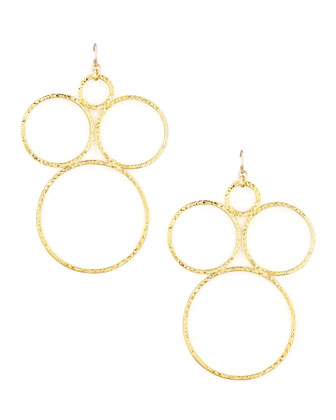 Gold Plate Open Circle Earrings