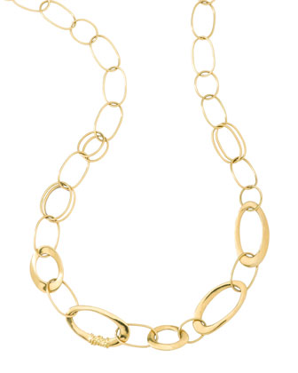 Gold Link Necklace, 18