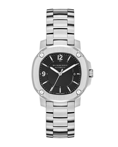 Brushed Steel Watch with Center Link