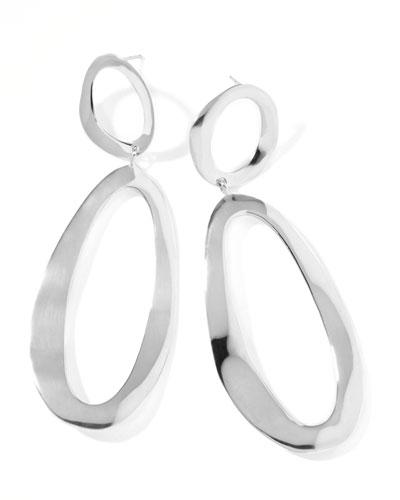 Sterling Silver Snowman Earrings