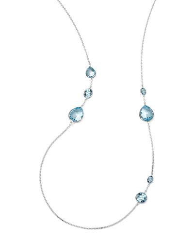 Rock Candy Gelato Necklace, Blue Topaz