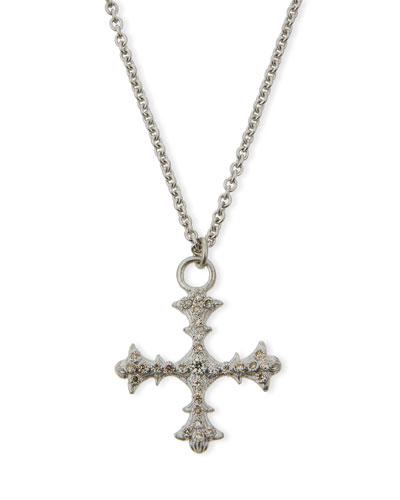 New World Diamond Cross Pendant Necklace