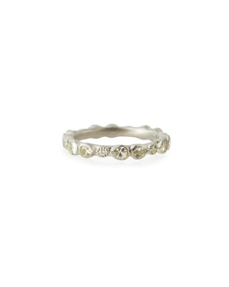 Armenta New World Scattered Sapphire & White Diamond Band Ring, Sizes 5-8