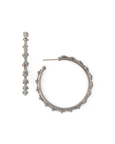 New World Crivelli Diamond Hoop Earrings