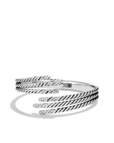Willow Open Three-Row Bracelet with Diamonds