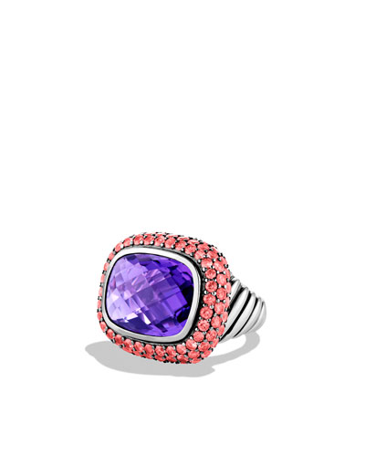 Waverly Ring with Amethyst and Pink Sapphires