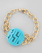 Isobel Monogrammed Acrylic Bracelet