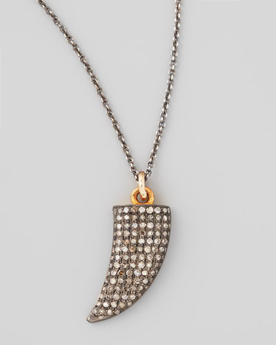 Black Diamond Shark Tooth Necklace