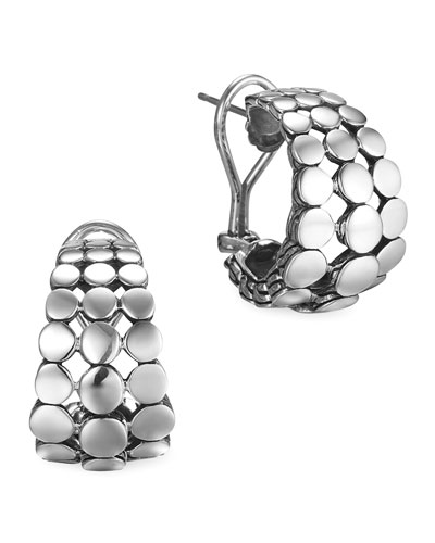 Silver Dot Buddha Belly Earrings