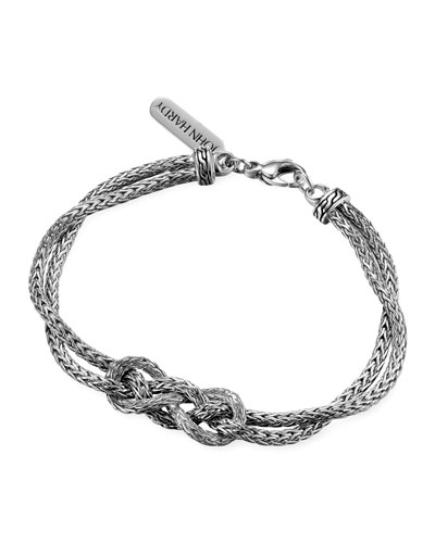 Classic Chain Silver Love-Knot Bracelet