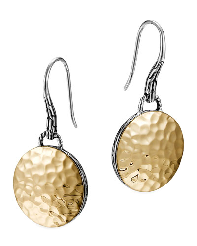 Palu Gold-Plate/Silver Round Drop Earrings