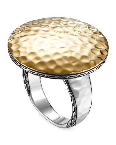 Palu Silver & Gold Round Ring