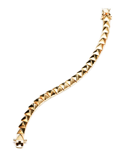 Small Pyramid Bracelet, Yellow Gold