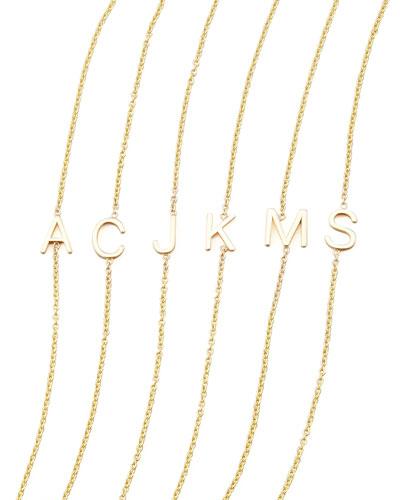 14k Yellow Gold Letter Bracelet
