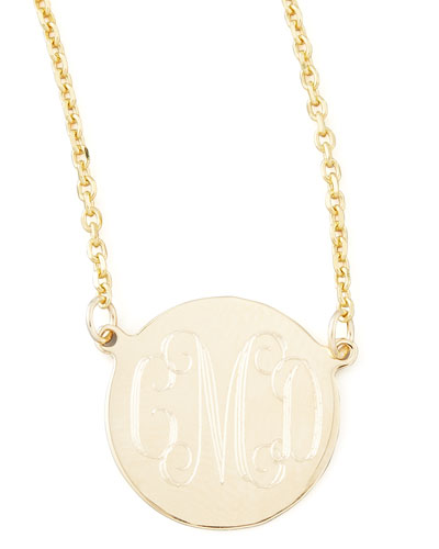 Cara Monogrammed 14kt Gold Necklace, 1/2