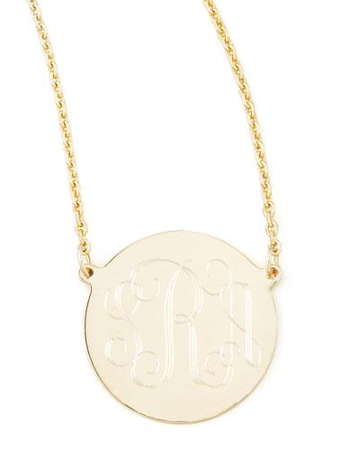 Cara Monogrammed 14k Gold Necklace, 5/8
