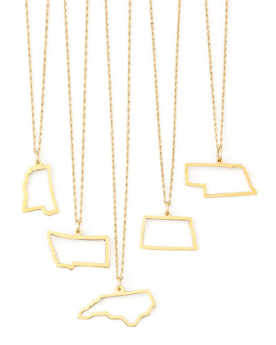 MAYA BRENNER DESIGNS Maya Brenner 14K Gold Necklace, M-W & Dc in Texas