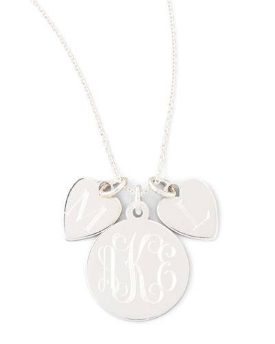 Sonya Layered Letter & Monogram Necklace, Silver