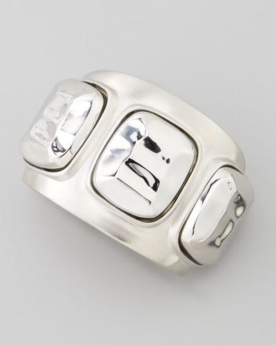Silvertone 3-Station Cuff Bracelet