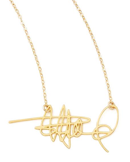Brevity Custom Signature Necklace