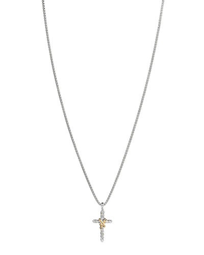 X Cross with Gold on Chain