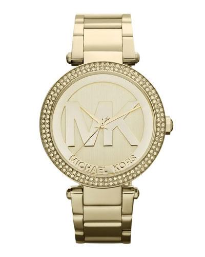Golden Stainless Steel Parker Chronograph Glitz Watch