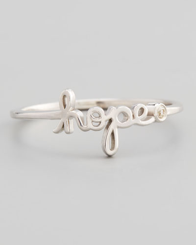 Hope Diamond Silver Script Ring