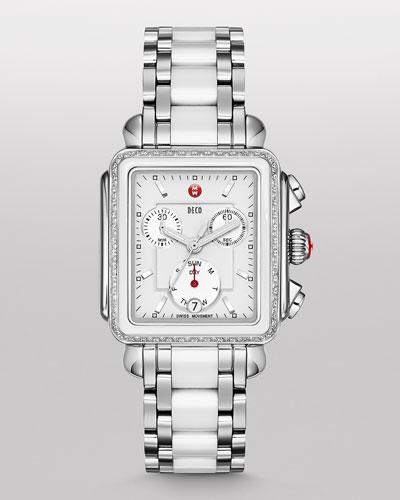 Deco Diamond Ceramic & Steel Watch Head