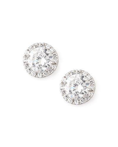 Quick Look Fantasia By Deserio Pave Cubic Zirconia Stud Earrings
