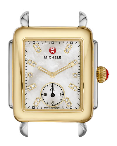 16mm Deco Two-Tone, Diamond Dial Watch Head