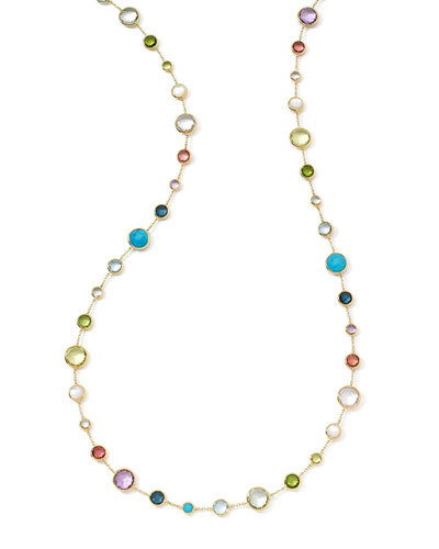 18k Gold Rock Candy Lollitini Necklace in Multi, 36