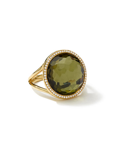 18k Rock Candy Mini Lollipop Ring in Pyrite & Diamond